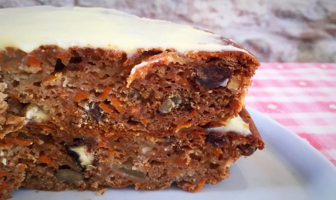 Carrot Cake - not vegan but oil & dairy free