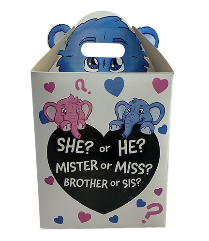 Blue Gender Reveal Box (8-inch)