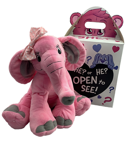 Pink Elephant Gender Reveal Kit (16-inch)