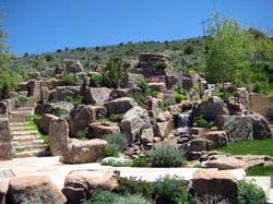 Vossler-rock garden and water fall.JPG