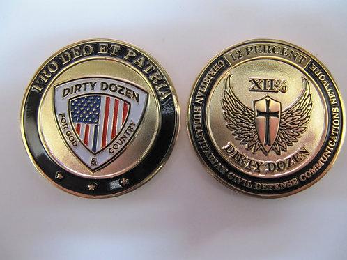 XII% Dirty Dozen Challenge Coin