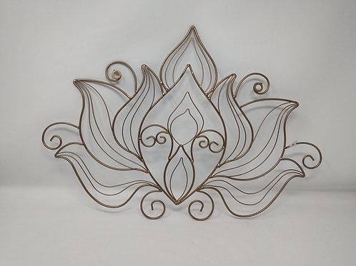 Metal Lotus Flower Wall Decor