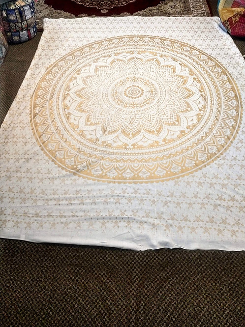 Gold Mandala Tapestry, Queen Size