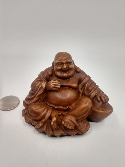 Laughing Buddha, Mini, Resin
