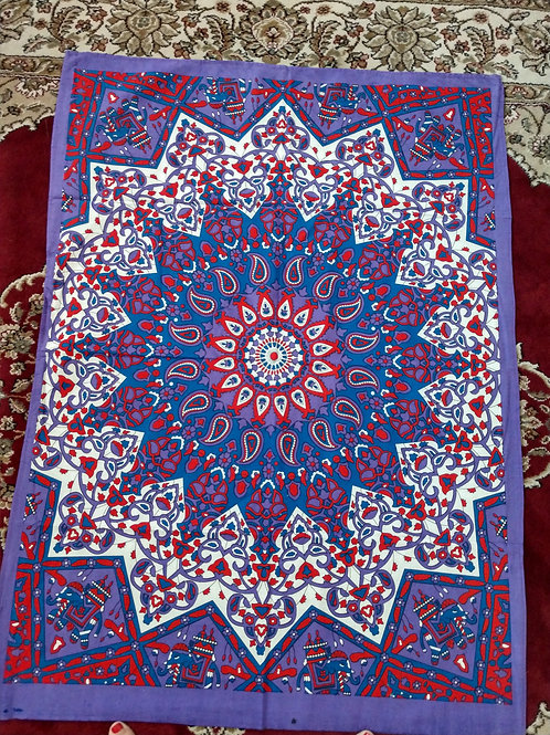 Mandala Purple, Red Tapestry, Poster