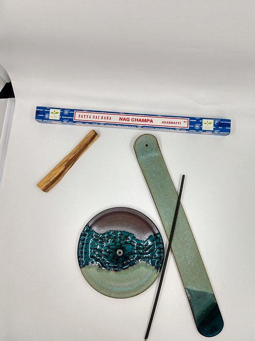 Handmade Pottery Incense Burner Holder