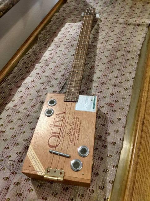 3-String Custom Oliva Cigar Box Guitar Accoustic Electric #14