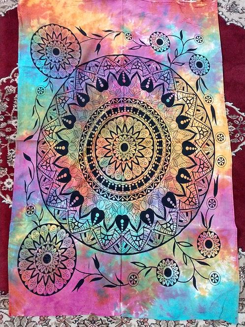 Mandala Tie Dye Tapestry, Poster Size
