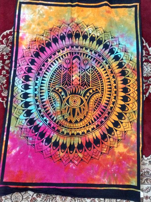 Hamsa Hand Tie Dye Tapestry, Poster Size