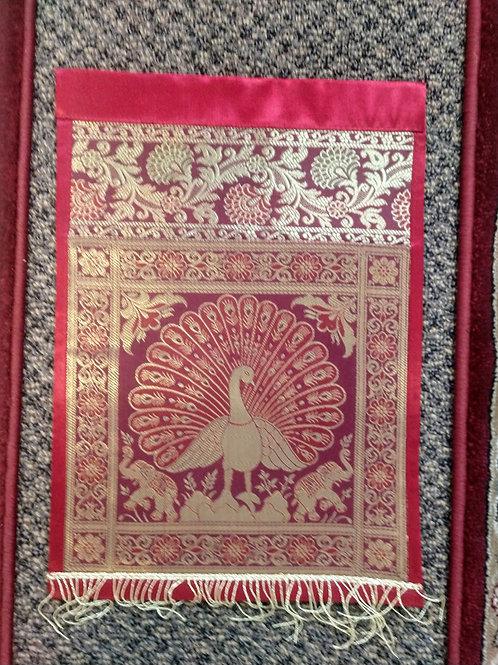 Silk Peacock Elephant Letter/Book Holder Home Decor
