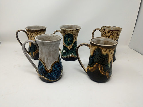 Hand Thrown Pottery Mugs