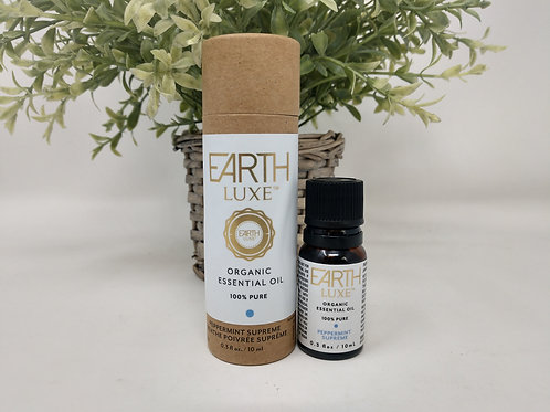Pure Organic Essential Oil, PEPPERMINT SUPREME, Earth Luxe