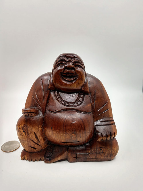 Happy Buddha, Wooden