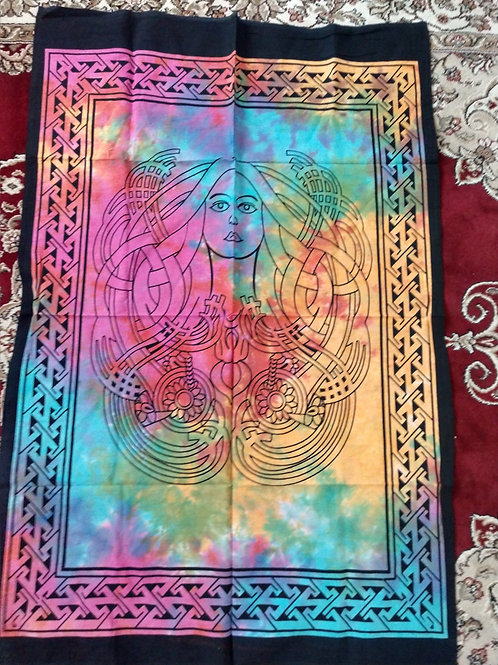 Celtic Woman Tie Dye Tapestry, Poster Size