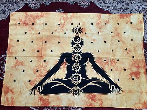 Buddha Chakra Yellow Tapestry, Poster Size