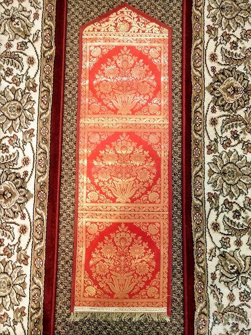 Red Silk Floral Three Pocket Letter/Book Holder Home Decor