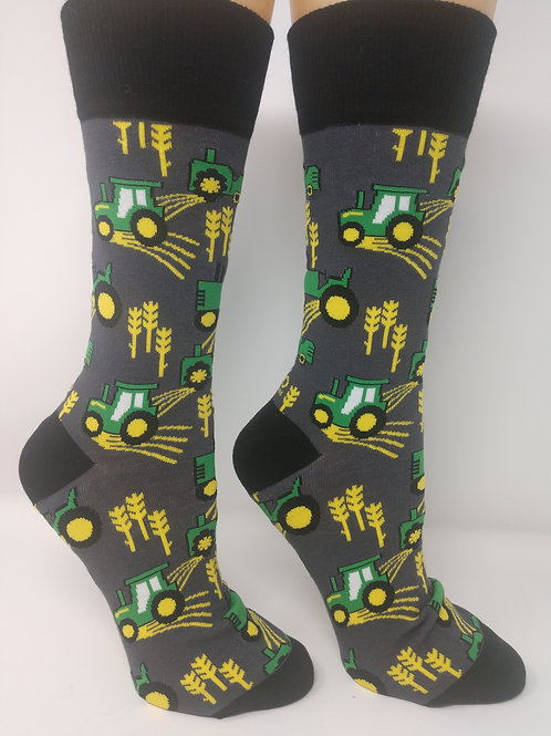 Men's Novelty Crew Socks, FARM LIFE Design, Yo Sox