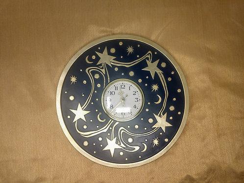 Moon and Stars Decorative Wall Clock