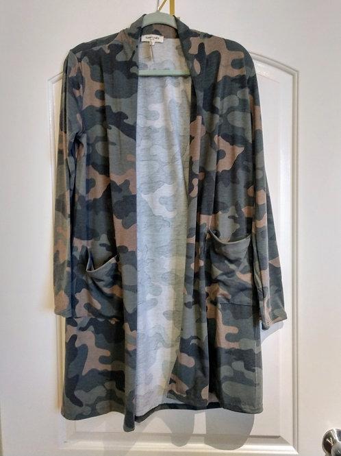 Camouflage Jersey Cardigan