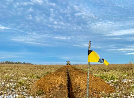 Завершается прокладка газопровода в поселке