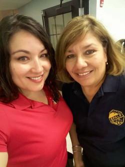 Rachel and Martha Volunteering