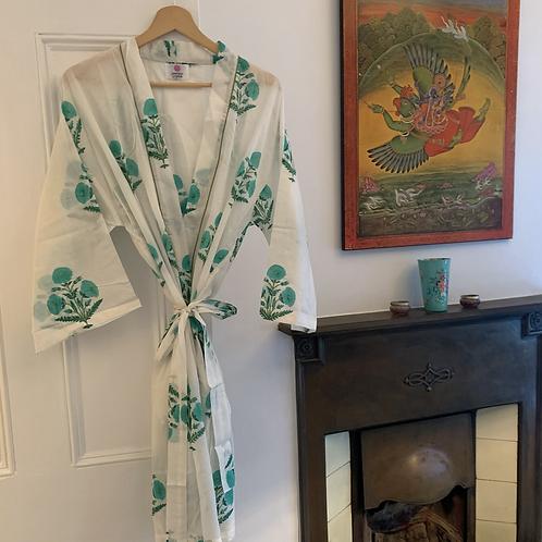 Jaipur Robe Short - Green Posie