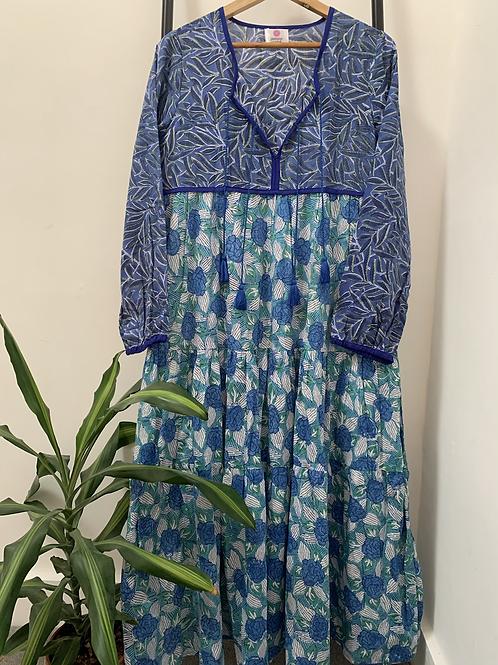 Lotus Dress - Peacock Blues