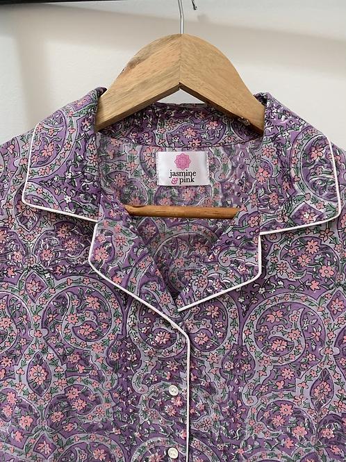 Haridwar Lounge Shirt - Maharani Violet