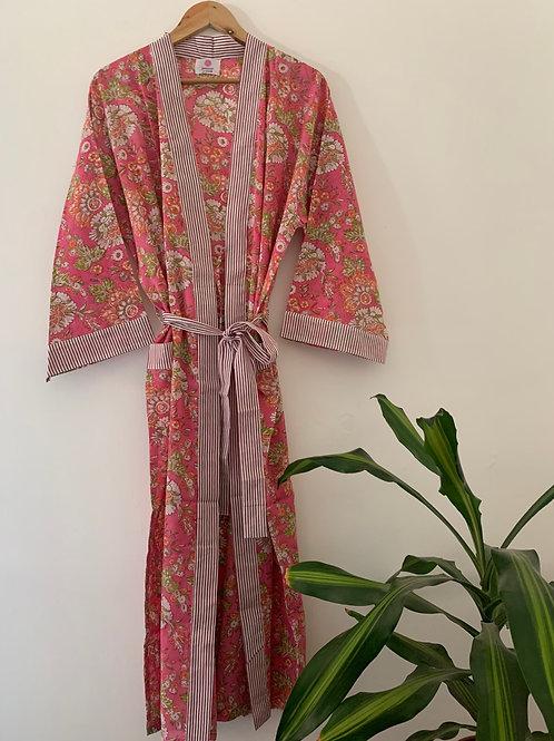 Jaipur Robe Long - Blushing Blooms