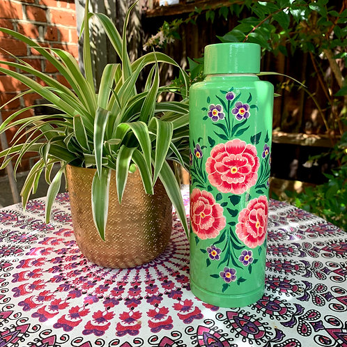 Kashmir Water Flask  - Green