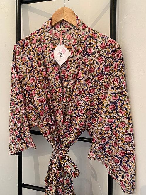 Jaipur Robe - Pink Vines