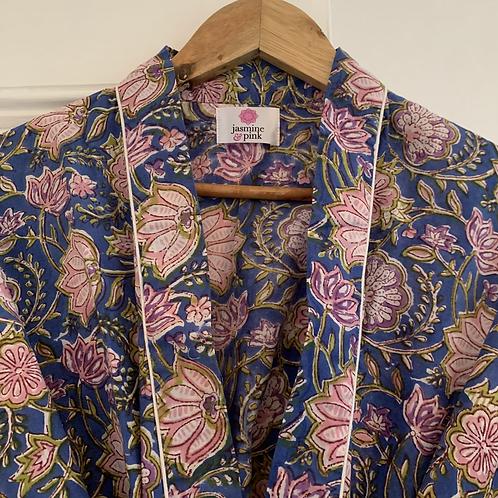 Jaipur Robe Short - Royal Blooms