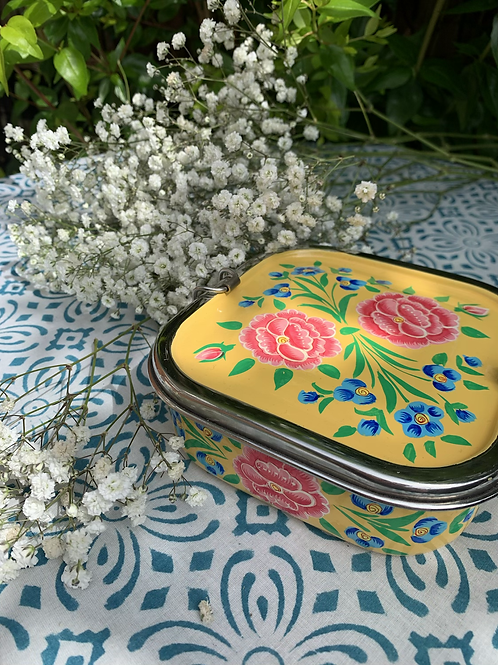 Kashmir Lunchbox - Yellow