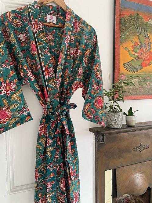 Jaipur Robe Short - Assam Blooms