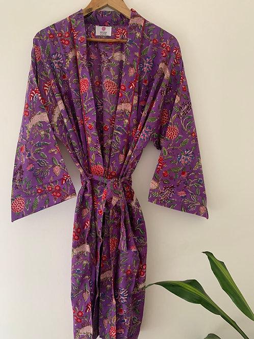 Jaipur Robe Short - Plum