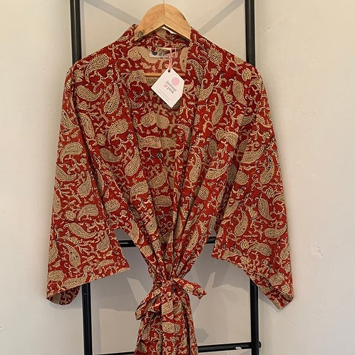 Jaipur Robe -Red Paisley