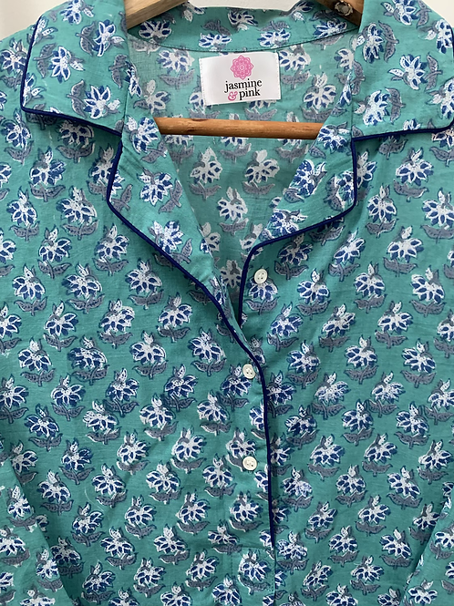 Haridwar Lounge Shirt - Peppermint