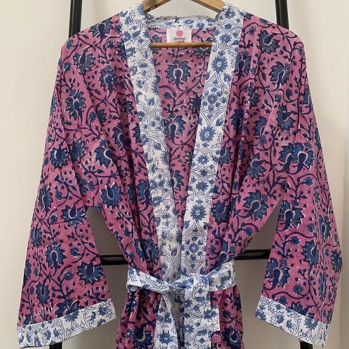 Jaipur Robe Long  - Midnight Blossom