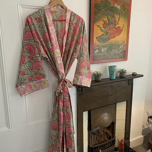 Jaipur Robe - pistachio pink