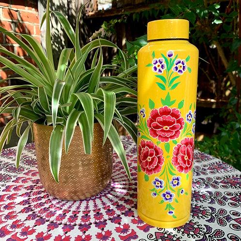 Kashmir Water Flask  - Yellow