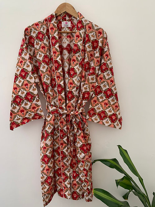 Jaipur Robe Short -Flame of the Forest
