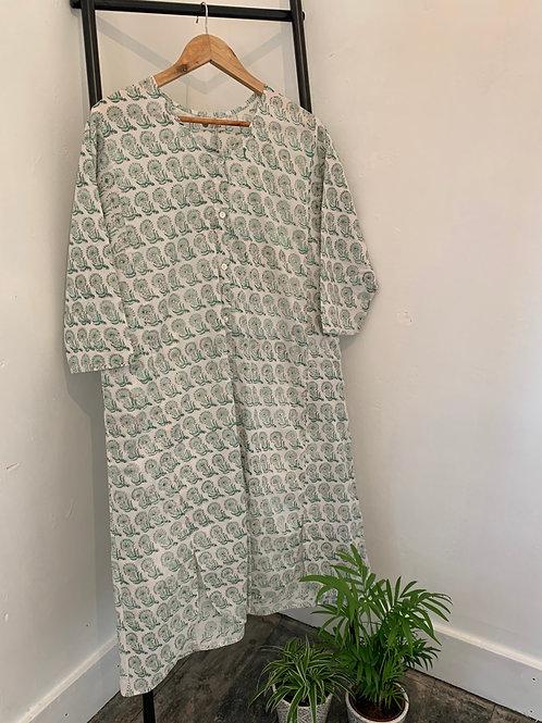 Anjuna Dress - Mint Flowers
