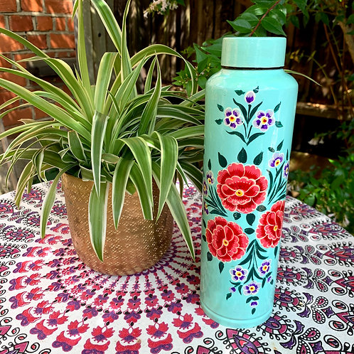 Kashmir Water Flask  - Turquoise