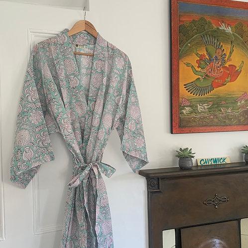 Jaipur Robe - Floral Mint