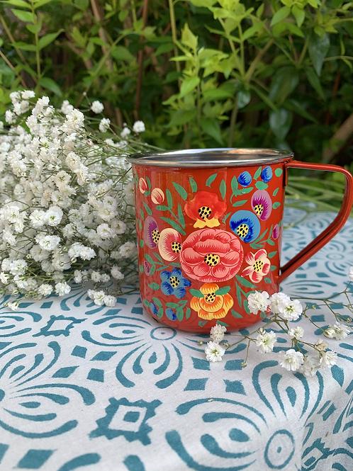 Kashmir Mug - Red