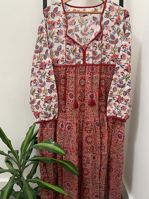 Lotus Dress - Seventies Pink