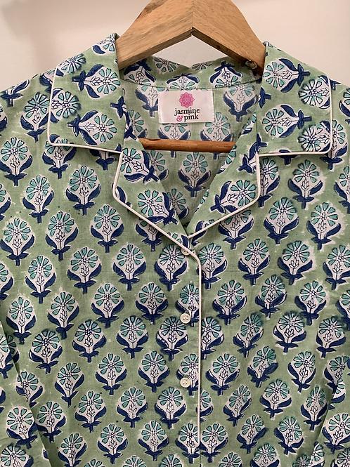 Haridwar Lounge Shirt - Goan Greens