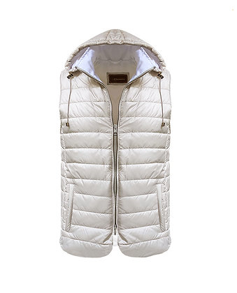 Vest with detachable hoodie