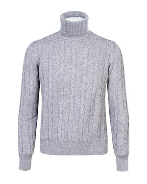 Turtleneck with cables