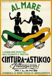 ADVERTISING POSTER - CINTURA ASTUCCIO VALLAGUZZA - 1930